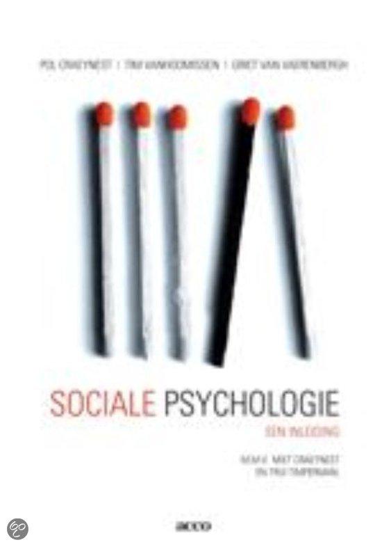 Sociale psychologie, een inleiding