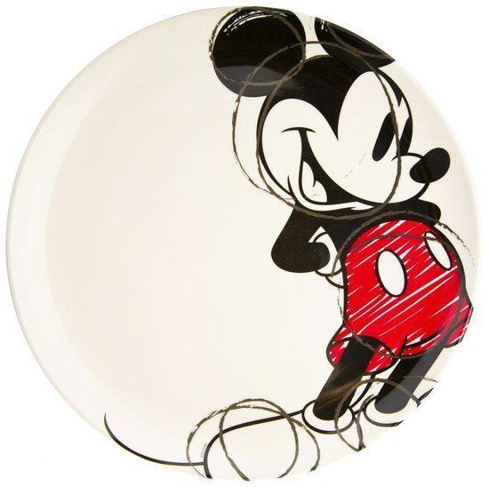 Disney Mickey Bord - 2 stuks - Ø 25,5 cm - Rood
