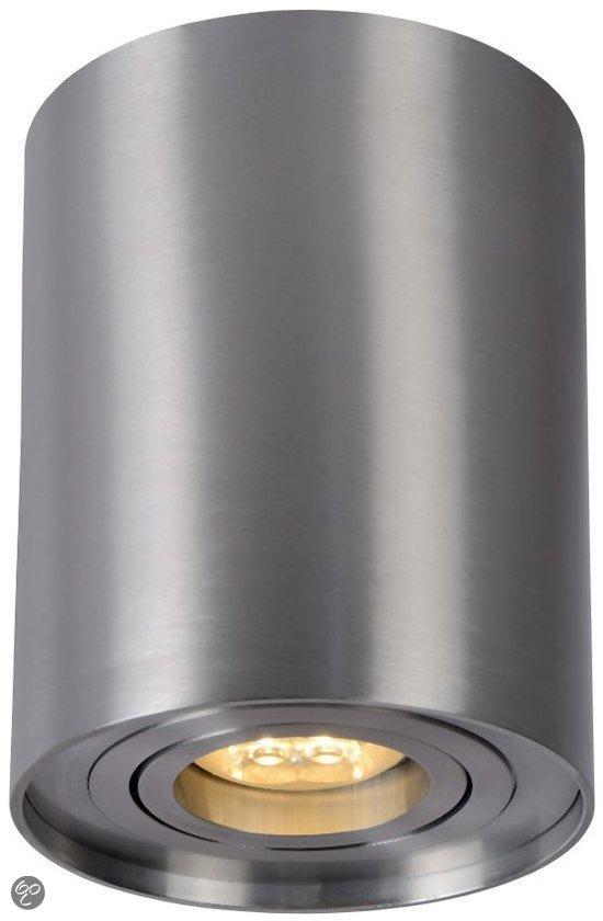 lucide tube 1 lichts opbouwspot rond aluminium. Black Bedroom Furniture Sets. Home Design Ideas
