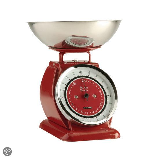Vintage Keukenweegschaal : bol.com Typhoon Bella Keukenweegschaal – Rood Koken en tafelen