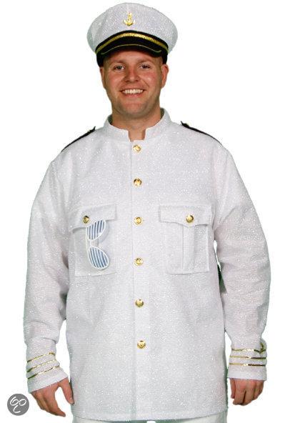 Marine Glitter - Kostuum- Maat M/L - Wit