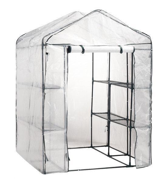 tuinkas van uv bestendig pe folie 140x200x140cm incl 8 legborden. Black Bedroom Furniture Sets. Home Design Ideas