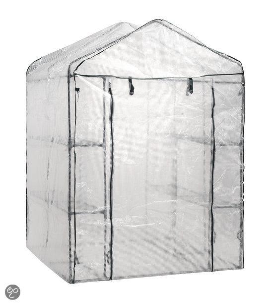 gartenfreude tuinkas van uv bestendig pe folie 140x200x140cm incl 8. Black Bedroom Furniture Sets. Home Design Ideas