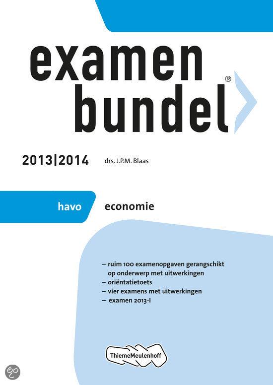 Examenbundel  / Havo economie 2013/2014