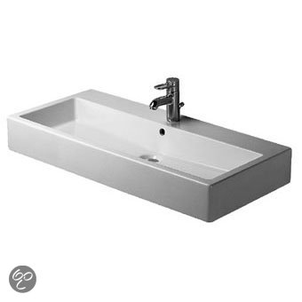 Duravit vero dubbele wastafel 100 x 47 cm keramiek wit klussen - Wastafel rechthoekig badkamer ...
