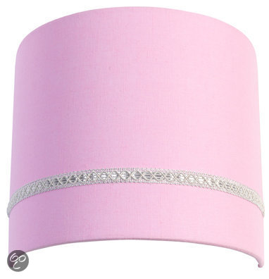 Coming Kids Linnen - Wandlamp - Roze
