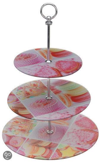 Dsm Keukens Materiaal : bol com DSM Serveerschaal Glazen etagere cupcake