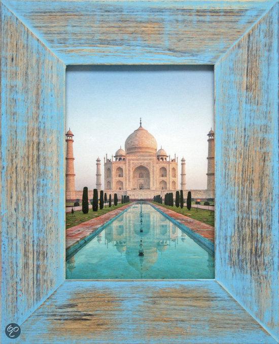 henzo india fotolijst fotomaat 15x20 cm blauw. Black Bedroom Furniture Sets. Home Design Ideas