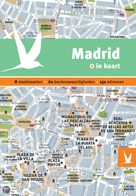 Madrid in kaart