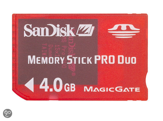 SanDisk Memory Card Pro Duo 4 GB RoodPSP