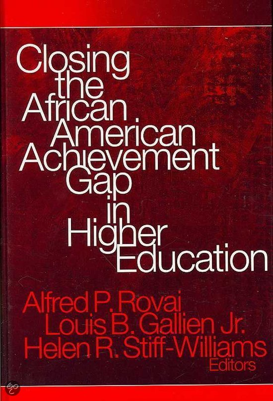 the african american achievement gap Just one third of african american college graduates are male my interest in this area, specifically educational disparities and the achievement gap for african american men, grew from my own experience in a low-income household.