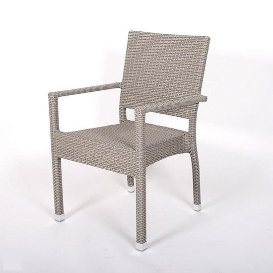 Cafe z tuinstoel terrasstoel pisa grijs rotan for Tuinstoel grijs
