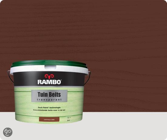 Rambo Tuinbeits - 5 liter - Lichtbruin - Transparant