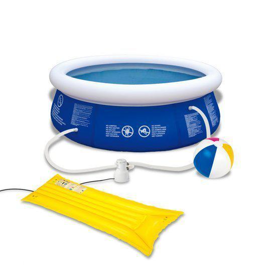 Vidaxl zwembad zwembad set 240 cm inclusief pomp for Zwembad voor in de tuin met pomp
