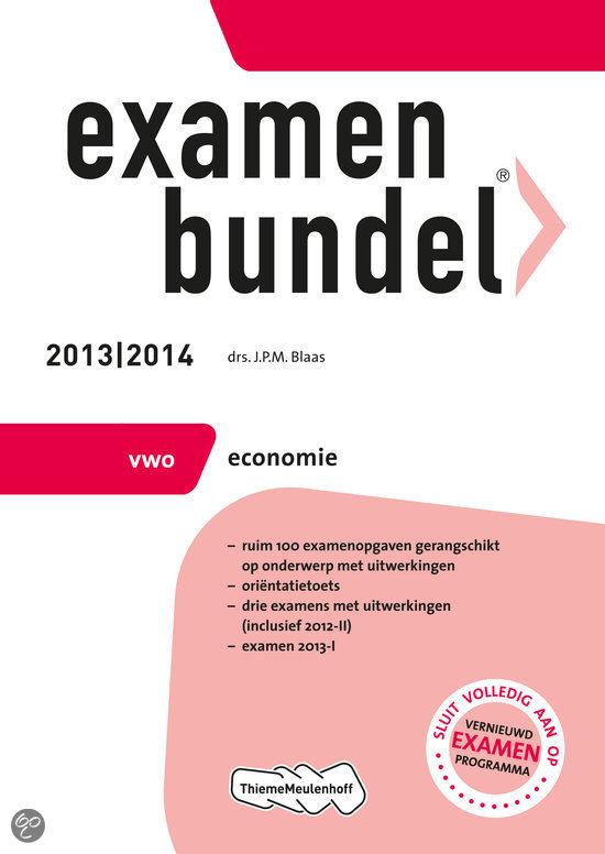 Examenbundel  / 2013/2014 vwo economie