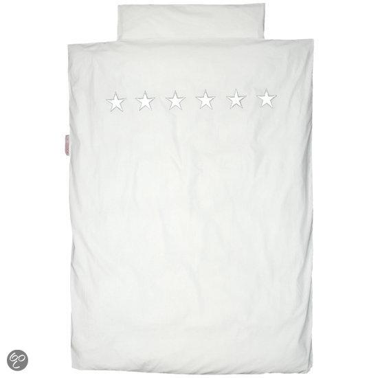 Taftan - Dekbedovertrek - Sterren zilver/wit