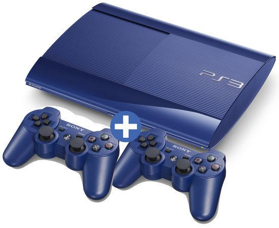 Sony Playstation 3 500 GB Super Slim Blauw + Extra Controller Blauw