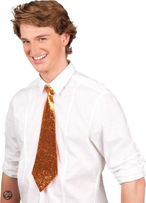 Stropdas Glitter - Oranje