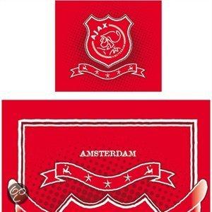 Ajax dekbedovertrek rood 1 persoons 140x200 for Ajax kussen