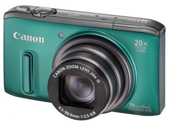 Canon PowerShot SX260 HS - Groen
