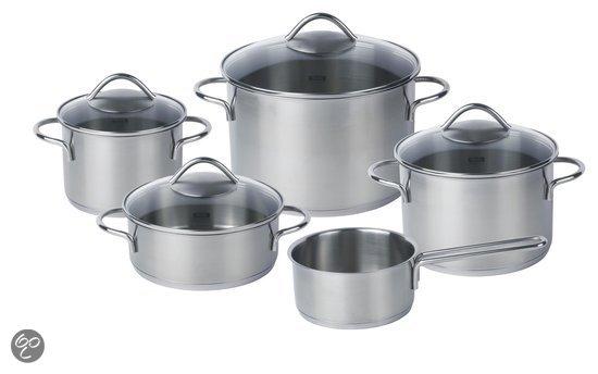 Fissler London Kookpannenset - 5-delig - Edelstaal
