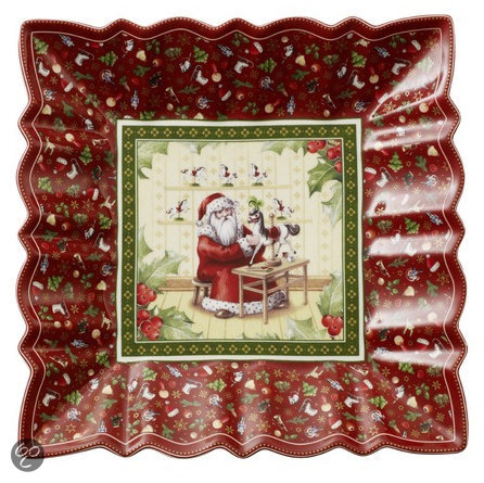 Villeroy & Boch Kerst Schaal -  Rood
