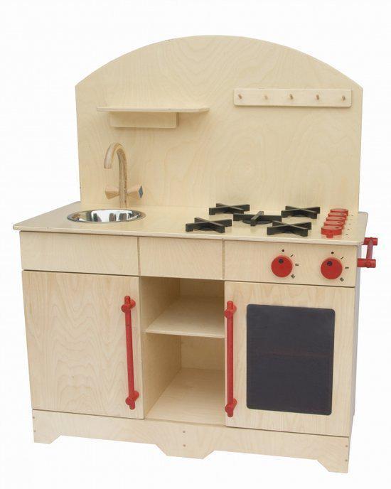 Houten Speelgoed Keuken Zelf Maken : bol.com Grote houten kinderkeuken van Dijk toys Speelgoed