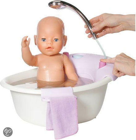Baby born bubbelbad met douche zapf creation speelgoed - Baby douche ...