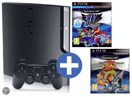 Sony Playstation 3 Slim 320GB + Sly Trilogy + Jak & Daxter Trilogy PS3