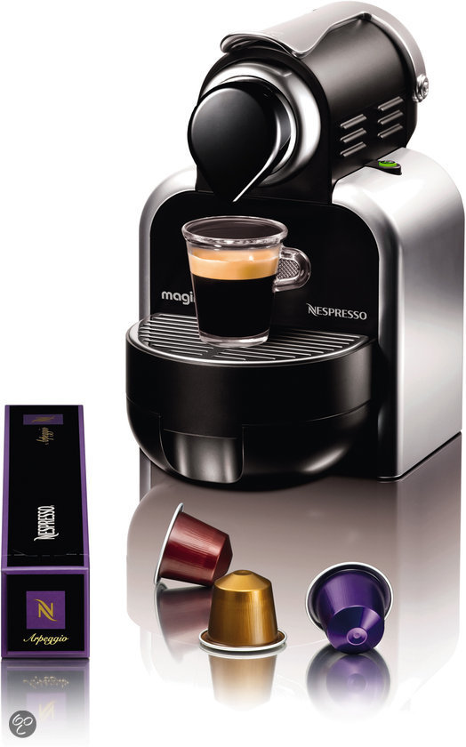 magimix nespresso apparaat essenza m100 automatic zilver elektronica. Black Bedroom Furniture Sets. Home Design Ideas
