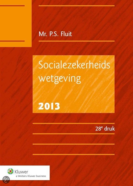 Socialezekerheidswetgeving / 2013
