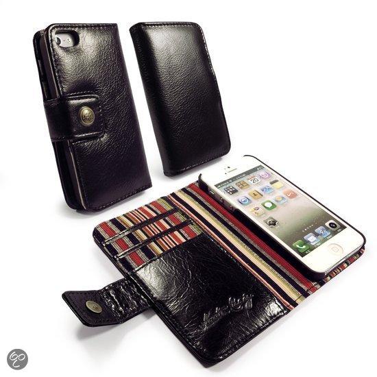 bol.com : Tuff-Luv Vintage Leren portemonnee case iPhone 5/5s zwart ...