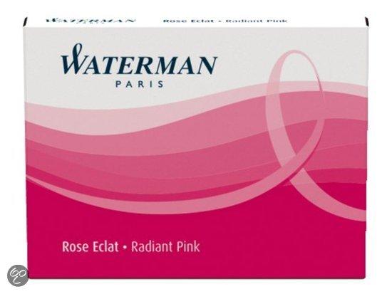 Waterman Inktpatronen Radiant Pink 1x6 korte inktpatronen in Herm?e