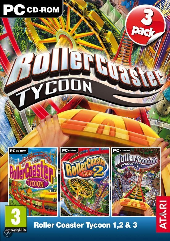 RollerCoaster Tycoon 1, 2 & 3 - PC