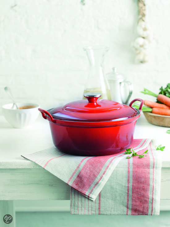 le creuset faitout braadpan 32 cm kersenrood koken en tafelen. Black Bedroom Furniture Sets. Home Design Ideas