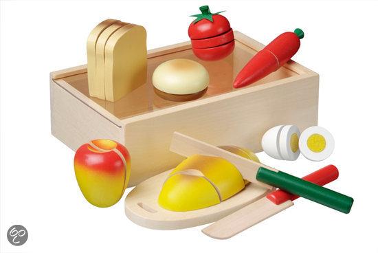 Ontbijt snijset in kistje New Classic Toys 7x21x14 cm (0580)