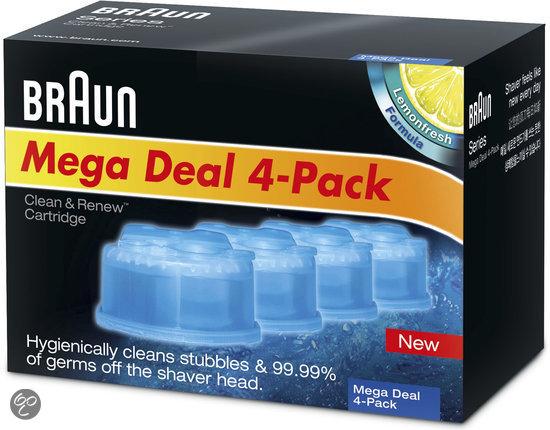 braun clean renew refill cartridge 4 pack. Black Bedroom Furniture Sets. Home Design Ideas