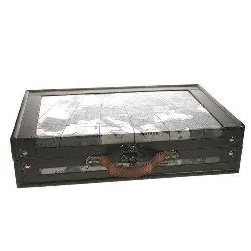 bol com DSM Decoratieve koffer Houten opbergbox accross