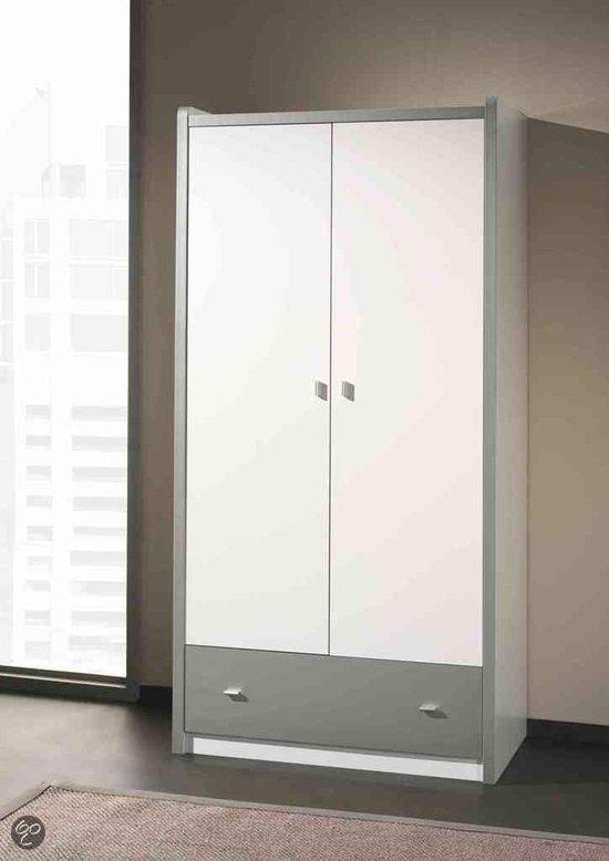 vipack kledingkast kleerkast 2 deuren bonny. Black Bedroom Furniture Sets. Home Design Ideas