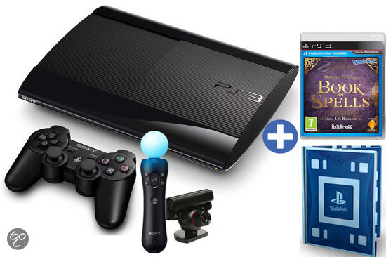 Sony PlayStation 3 12GB Super Slim + PlayStation Move Starterpack + Wonderbook + Book of Spells