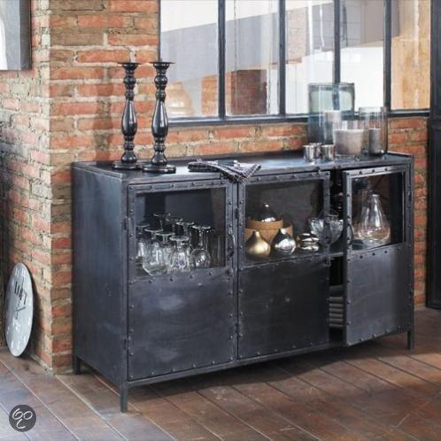 giga meubel dressoir industrieel. Black Bedroom Furniture Sets. Home Design Ideas