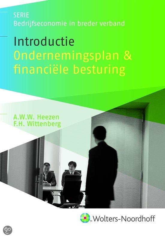 Introductie ondernemingsplan en financiele besturing / druk 2