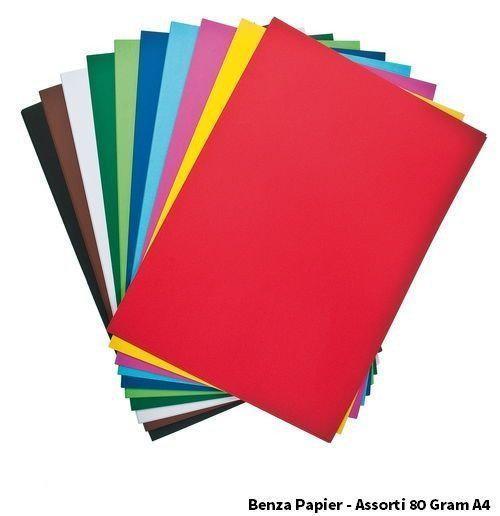 Benza papier gekleurd printpapier hobbykarton for Gekleurd papier action