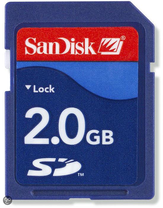 Sandisk SD kaart 2 GB