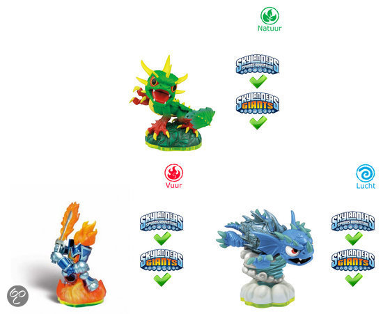 Skylanders Spyro's Adventure Pack Warnado, Camo, Ignitor Wii + PS3 + Xbox 360 + 3DS + PC