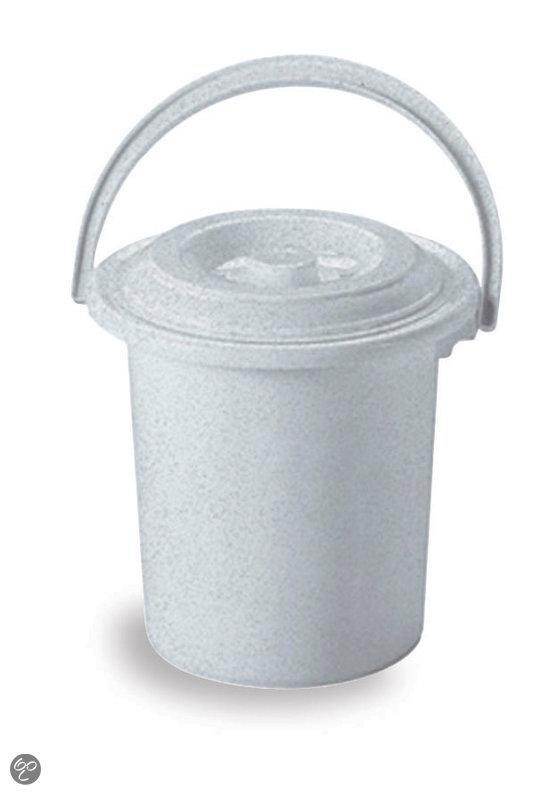 Curver Toiletemmer met Deksel 10 l - Luna