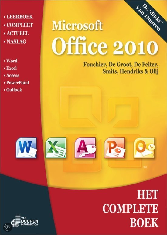 Het complete boek microsoft office 2010