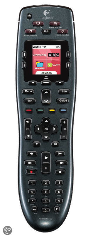 Logitech Harmony 700 - Universele afstandsbediening