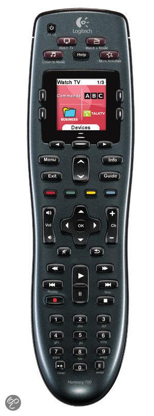 Logitech Harmony 700 - Universele afstandsbediening