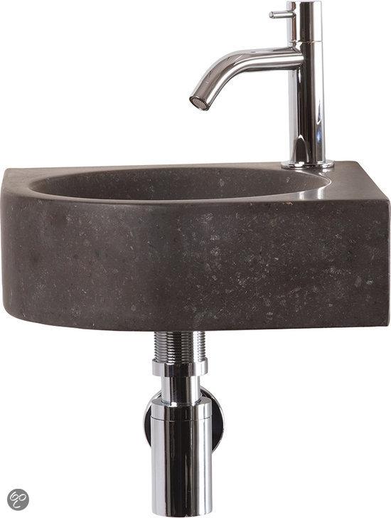 Differnz cleo fontein toilet set hoekfontein 30 x 30 cm inclusief fonteinkraan - Toilet wastafel ...